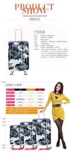 Camuflar a tendência de rodas universais os meninos bagagem saco de viagem do trole da bagagem das mulheres imaginar caixas arrastar wlh230-inRolling bagagem de Bagagem & Bags on Aliexpress.com | Alibaba Group