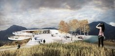 Snøhetta brings a touch of modern design to the old cable car with this winning gondola in the Italian Alps Architecture Drawings, Architecture Plan, Cgi, Car Competitions, Car Station, Architect Magazine, Underground Homes, Zaha Hadid, Urban Planning