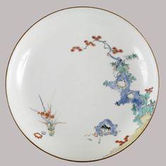 Dish of the Kakiemon Type This is an example of Arita ware. Japanese (Edo) porcelain with overglaze enamels Chinese Ceramics, Japanese Ceramics, Japanese Pottery, Japanese Art, Delft, Era Meiji, Plum Flowers, Japanese Porcelain, Asian Art