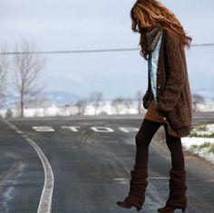 Slouchy sweater. Slouchy boots