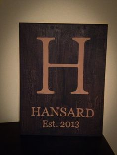 Handpainted Rustic Personalized Sign on Etsy, $25.00