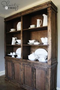 DIY Dining Room Sideboard and Hutch - Restoration Hardware Style
