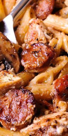 Cajun Chicken & Sausage Pasta
