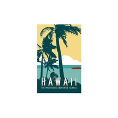 Hawaii Travel Poster Giclee Print Wall Art (93 BRL) ❤ liked on Polyvore featuring home, home decor, wall art, giclee wall art, hawaiian home decor, hawaiian wall art and hawaii travel poster
