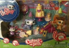 Littlest Pet Shop Cutest Pets Goodies & Gifts Party with Rat 2489, Ferret 2490 and Guinea Pig 2488 by Hasbro. $16.89. Includes birthday cake, snacks, party hats, present, plates, animals and more!. Comes with Rat - #2489; Ferret #2490; Guinea Pig #2488. Littlest Pet Shop Cutest Pets Goodies & Gifts Party!. Guinea Pigs is cute and cuddly with soft hair!. Cute and cuddly, this Littlest Pet Shop is the perfect gift for your child.  It includes all the accessories needed to...