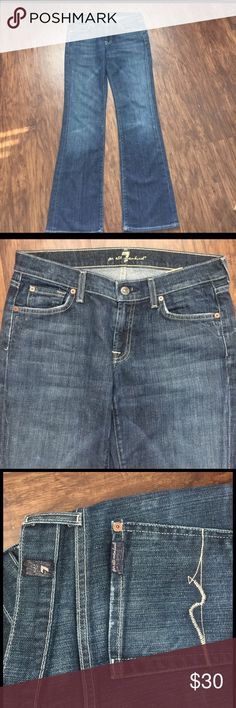 """7 for All Mankind size 29 bootcut 7 for All Mankind great condition boot cut, 25"""" Inseam 7 For All Mankind Jeans Boot Cut"""