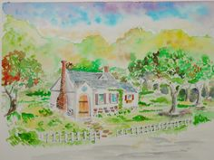 How to Draw Worksheets for The Young Artist: How to draw a country cottage