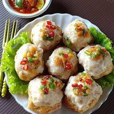 Tofu Recipes, Snack Recipes, Cooking Recipes, Seafood Recipes, Dessert Recipes, Snacks, Tahu Isi, Couscous Healthy, Malaysian Food