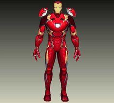 Captain America: Civil War - Iron Man Mark 46 (Mark XLVI) Free Papercraft Download