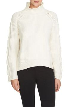 1.STATE Cable Knit Turtleneck Sweater