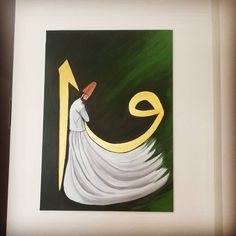 Gittiği eve huzur getirsin - Hobbies paining body for kids and adult Islamic Art Calligraphy, Caligraphy, Pour Painting, Sufi, Art Activities, Body Art Tattoos, Abstract Art, My Arts, Drawings
