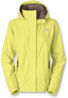 north face rain jacket womens yellow