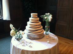 Ribbon cake by Beaverton Bakery (photographed in the Crystal Ballroom at the Tiffany Center) #weddingcakes #BeavertonBakery