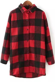 Shop Red Black Lapel Checkerboard Long Sleeve Plaid Loose Blouse online. SheIn offers Red Black Lapel Checkerboard Long Sleeve Plaid Loose Blouse & more to fit your fashionable needs.