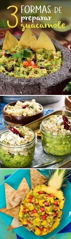 ¿Buscas un guacamole mexicano para tu fiesta mexicana o para las fiestas patrias este septiembre? ¡Estas 3 formas de preparar guacamole tradicional te encantarán!