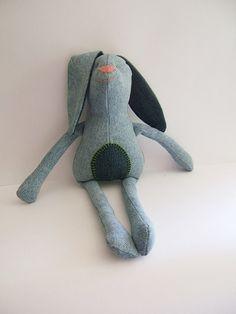 Bunny. Kids stuffed rag bunny. Stuffed  bunny. by ThePaperNeedle @annieroland
