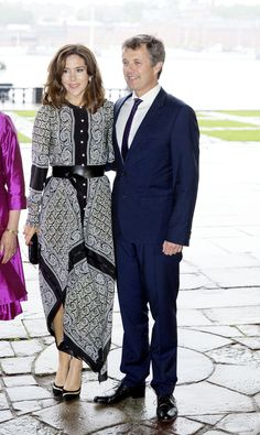 Crown Prince Frederik and Crown Princess Mary of Denmark attend the official dinner at the Stockholm city hall on 30 May 2017