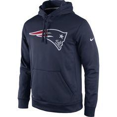 Men's New England Patriots Nike Navy Practice Performance Pullover Hoodie