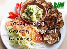 Vegan Nachos, Vegan Crackers, Raw Vegan Recipes, Eggplant, Guacamole, Glutenfree, Dip, Beef, Website