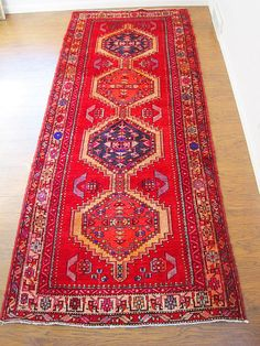 Vintage Persian Rug in Jewel Tones