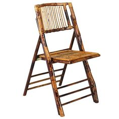 Classic Party Rentals, Bamboo Folding Chair