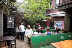 """The best patios in Toronto embody what John Keats said when he mused, """"Give me books, fruit, French wine and fine weather and a little music out of. French Wine, Green Rooms, Hanging Out, My House, Toronto, Good Things, Drinks, Places, Outdoor Decor"""