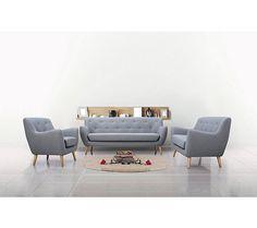Fauteuil scandinave MILO tissu Gris clair - Fauteuil BUT Décoration Urban Jungle, Eames, Lounge, Couch, Chair, Decoration, Furniture, 1 Place, Design