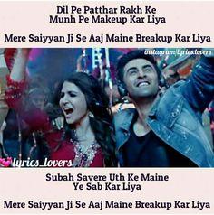 My favorite Song :) Me Too Lyrics, Cool Lyrics, Music Lyrics, Bollywood Movie Songs, Bollywood Quotes, Jokes Quotes, Movie Quotes, Funny Quotes, Best Song Lines
