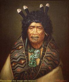 Rangi Topeora, a woman of mana of Ngāti Toa and Ngāti Raukawa, was one of five female signatories to the Treaty of Waitangi. This portrait, by Gottfried Lindauer January 1839 – 13 June highlights her moko kauae (chin and mouth tattoo), a sign of her mana. Maori Tattoo Meanings, Maori Symbols, Tattoo Designs And Meanings, Maori People, Tribal People, Mouth Tattoo, Auckland Art Gallery, Polynesian People, Polynesian Art
