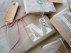 10 DIY Christmas giftwrapping ideas