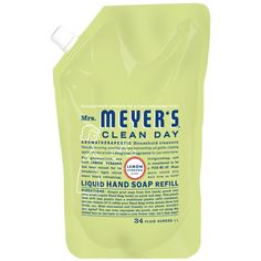 Mrs. Meyer's Clean Day Liquid Hand Soap Refills. #beauty, #skincare, #hands #nails #care