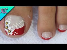 DISEÑO DE UÑAS PARA PIES GIRASOL Y FRANCÉS ¡MUY FÁCIL! - SUNFLOWER NAIL ART - NLC - YouTube Nail Art Designs, Sunflower Nail Art, Cotton Candy Nails, American Nails, Beautiful Nail Polish, Summer Toe Nails, Halloween Nail Art, Nail Decorations, Toe Nail Art