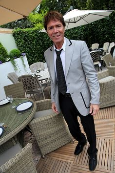 Cliff Richard Visits Bramblecrest Garden Furniture at the Chelsea Flower Show www.bramblecrest.com