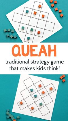 Board games 119978777561944640 - How to play the traditional board game queah, an abstract strategy game similar to draughts from Liberia. Easy to learn and fun to play. Source by momandkiddo Activity Games, Math Games, Activities For Kids, Speech Activities, Games To Play, Liberia, Class Games, School Games, Group Games