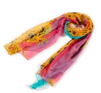 Blue red change desigual scarf autumn summer 100% mulberry silk georgette foulard long silk scarves hijab silk scarf 177*105cm