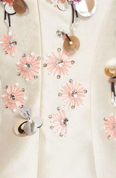 Embellished Silk and Wool Dress (Lela Rose)