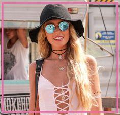 Óculos de sol e chapéus são ótimos aliados  tanto para o inverno quanto para o verão. #oculosdesol #oculosechapeu #oculos #visostore #oculosvisostore
