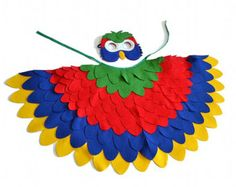 Kids Parrot Costume Children Bird Wings and Mask by BHBKidstyle