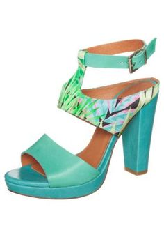 ZIGN - Plateausandaletten - aquamarina - gesehen bei zalando, ca. 90€ Heeled Mules, My Style, Heels, Women, Fashion, Shoes, Turquoise, Shoes Sandals, Shoes Women