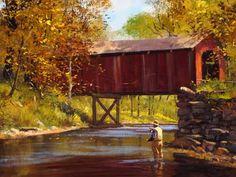 Old Covered Bridge by Brett James Smith Fine Art Print