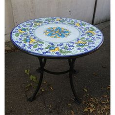 """39"""" Purple and Blue Floral"""