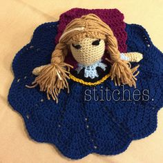 Custom Snow Queen's Sister Princess Lovey by stitchesfiberworks on Etsy