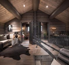 Kvitfjell Spektakulær stavlafthytte med særdeles høy standard fantastisk u Cabin Homes, Log Homes, Style At Home, Rustic Bedroom Furniture Sets, Bedroom Rustic, Scandinavian Cabin, Chalet Interior, Interior Design, Interior Ideas