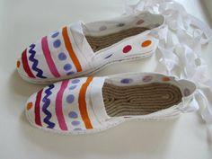 Hand-painted espadrilles - too stylish! Find them at www.alexsof-colourbox.blogspot.com