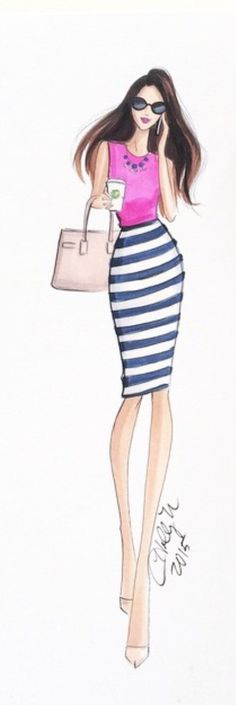 'I don't have a nine to five, I have a nine to fabulous!' by @hnicholsillustration/ hnillustration.etsy.com  Be Inspirational ❥ Mz. Manerz: Being well dressed is a beautiful form of confidence, happiness & politeness