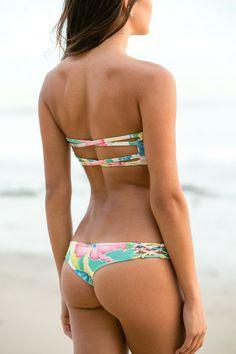 San Lorenzo - Knotted Bikini Bottom / Isla Palmera - $66
