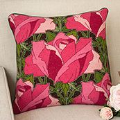 Roses, this beautiful pink flower is stunningly depicted in this needlepoint kit from Raymond Honeyman.