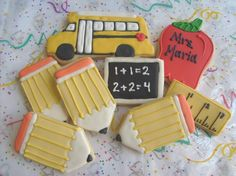 FIrst day of school cookies