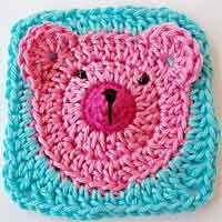 Teddy Bear Granny Square Tutorial 100's of square patterns