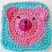 Teddy Bear Granny Square Tutorial http://allcrafts.net/crochet/crochetsquares.htm